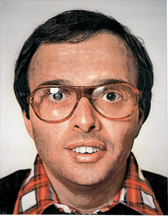 """Mark,"" by Chuck Close"