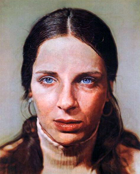 """Leslie,"" by Chuck Close"