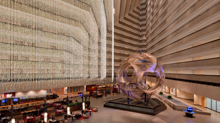 "SF Hyatt Regency Guinness Book of World Records-approved ""world's largest atrium lobby"""