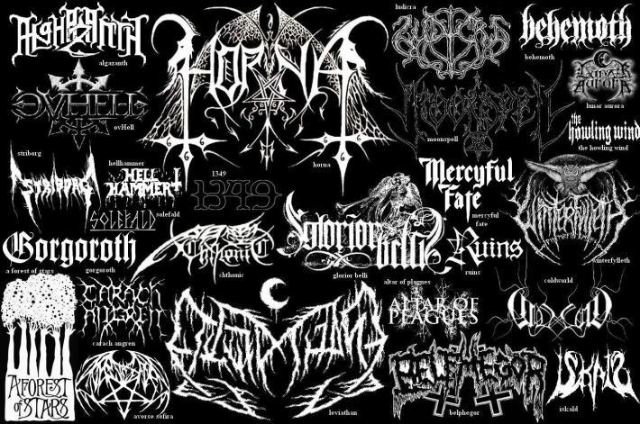 Black Metal logos are wonderful works of art